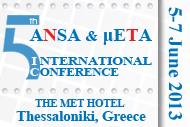 5th ANSA & ?ETA International Conference banner